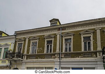 Ancient renovated building in Ruse town, Bulgaria