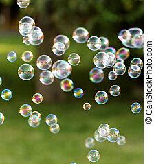 jabón, burbujas,