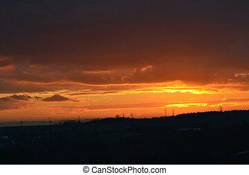 Orange landscape - Beautiful landscape