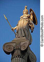 Athéna, Dieu, statue