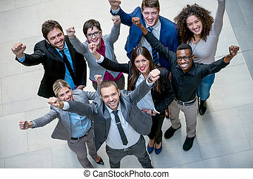 business poeple group - young multi ethnic business people...