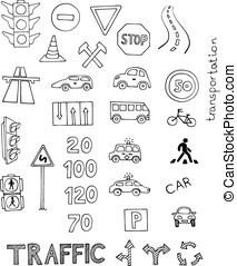 traffic rules vector set on white background