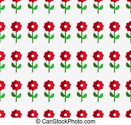 Seamless Flower Pattern. seamless vector pattern from paper...