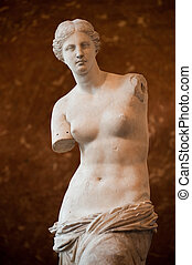 Venus of Milo - The famous Venus of Milo, at Louvre museum,...