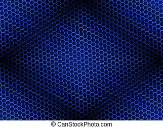 Honeycomb Background Seamless Blue