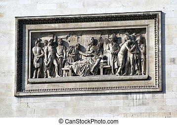 Sculpture, Arc de Triomphe, Paris