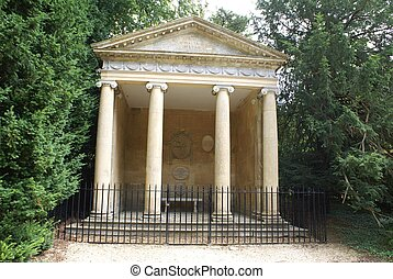 The Temple of Diana, Woodstock, UK - Greek temple in...