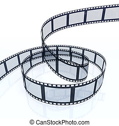 Film Strip - 3d image of a filmstrip isolated on white...