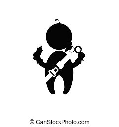 baby with seat belt vector illustration