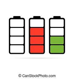 batería,  Color,  vector