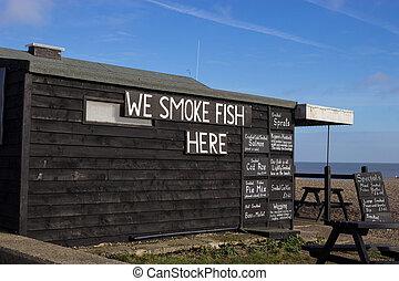 Fishermans Hut, Aldeburgh - A fishermans hut on Aldeburgh...