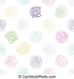Beautiful background with abstract colored roses - Beautiful...