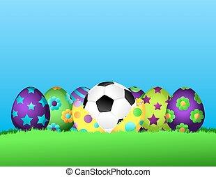 Soccer or Football Easter Egg Row