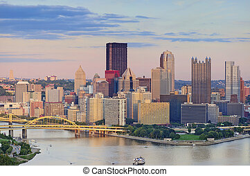 Pittsburgh Skyline - Image of Pittsburgh downtown skyline...