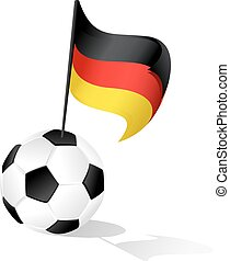 Soccer Ball or FootBall with Flag of Germany