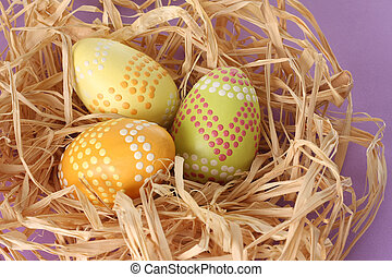 Easter eggs - Decorated Easter eggs.
