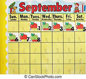 September school calender - Back to school september...