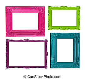 Colorful picture frames - Four contemporary picture frames...