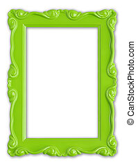 Green picture frame - Pretty green picture frame.