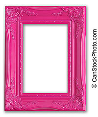 Pink frame - Pretty pink picture frame.