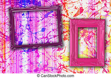 Picture frames. - Pretty picture frames on a paint...