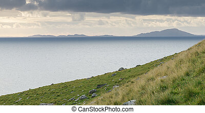 Neist Point Coast - View onto the Atlantic Ocean from Neist...