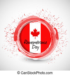 canada remembrance day ink sign illustration design over a...