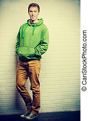 masculine - Full length portrait of a handsome young man in...