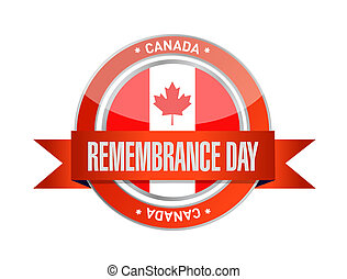 canada remembrance day seal illustration design over a white...