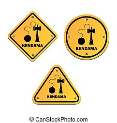 kendama signs - suitable for user interface