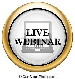 Live webinar icon Internet button on white background