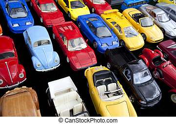 Toy cars - Colorful toy cars in a flea market
