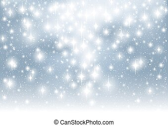 Abstract Glitter Background - Christmas Illustration, Vector
