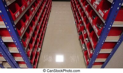 auto parts store - Warehouse auto parts store, shelves with...