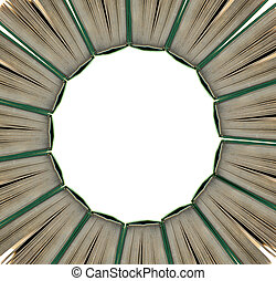 Book al around - A circle around it with books concept...