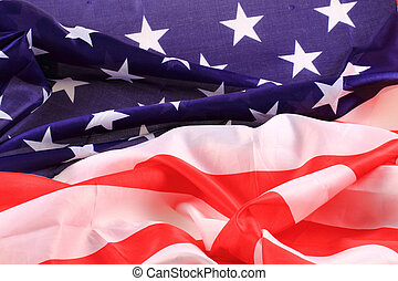 USA flag as nice blue and red background