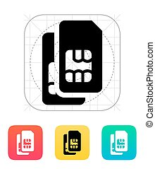 Dual SIM cards icon. Vector illustration.