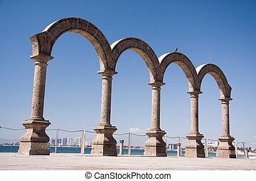 Puerto Vallarta arches on the Malecon.