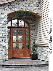 Front door - Elegant front door of a brand new executive...