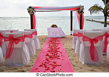 Beach wedding - Tropical beach wedding.