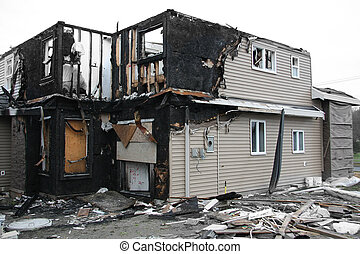 Burnt house - New house destroyed by fire. Also available in...