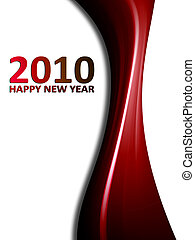 New year - 2010 new year background with dynamic wave