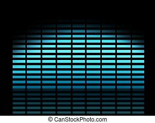 Background - blue dynamic equalizer over black background