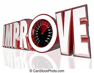Improve Word Speedometer Measure Increase Better Performance...