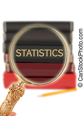 Looking in on education - Statistics - Magnifying glass or...