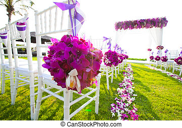 wedding ceremony - Chair setting for Wedding