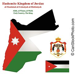 Jordan Flag - Flag and coat of arms of Hashemite Kingdom of...