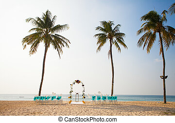 wedding ceremony - Wedding set up on the beach
