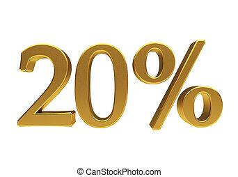 3D 20 percent isolated - 20 percent off Discount 20 3D...