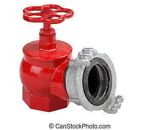 Iron hydrant valve with socket for connection of fire hose....